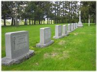 Graves of the past superiors general in Fond du Lac, Wisconsin