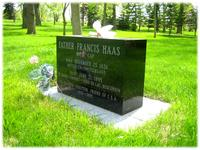 Grave of Father Francis Haas, O.F.M. Cap., Spiritual Director of the Sisters of St. Agnes