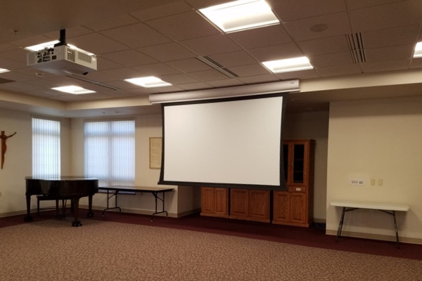 Projector and Drop-down Screen