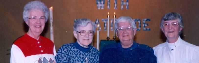 Dorothy Von Rotz, Gert Specht, Marjorie Von Rotz, and Melva Olson.
