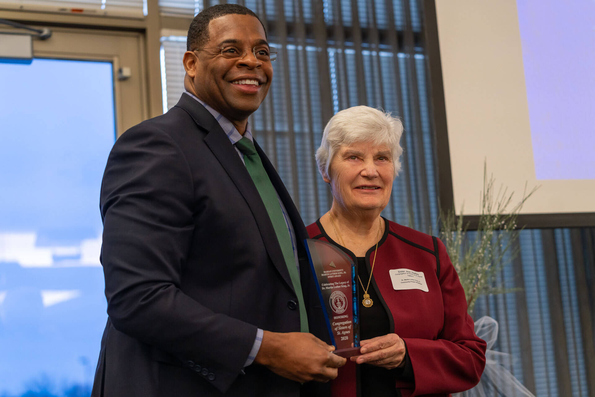 Sister Jean with Dr. Koonce