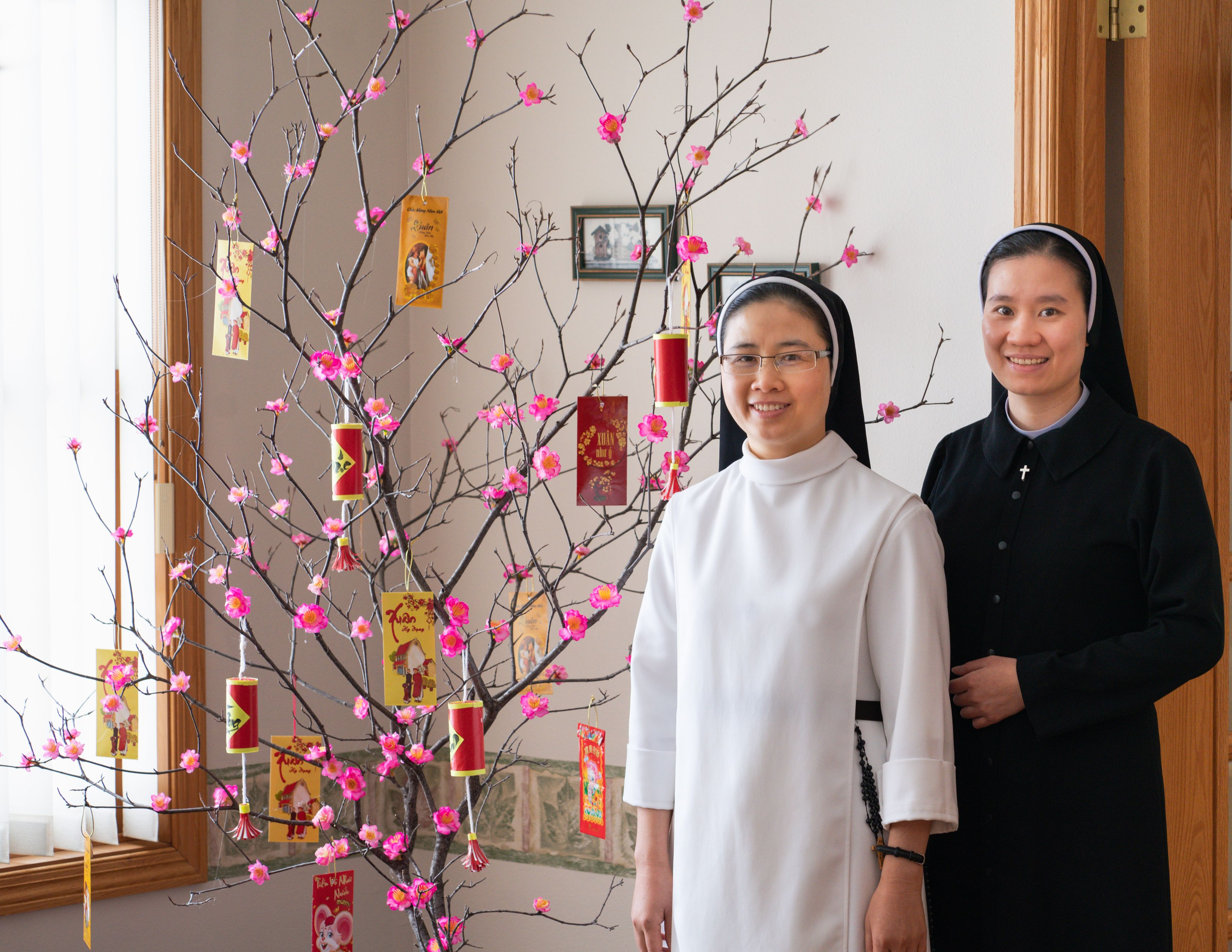 Sisters with Tree