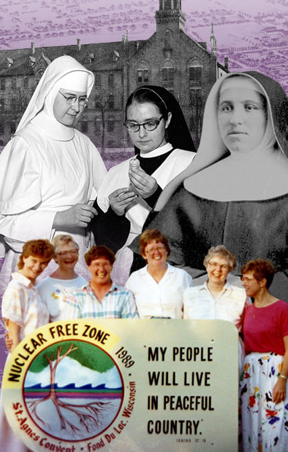 Collage of historical images of sisters in Fond du Lac