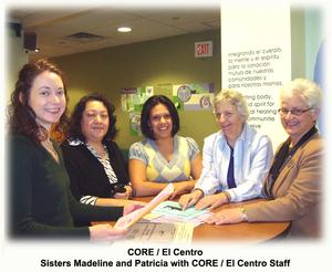 CORE/El Centro Staff with Sisters Madeline and Patricia